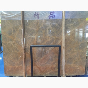 Golden lemon marble tile