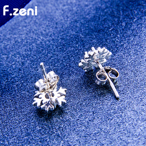white Gold Plating Stainless Steel Christmas bell earring kits gold  snowflake stud earrings