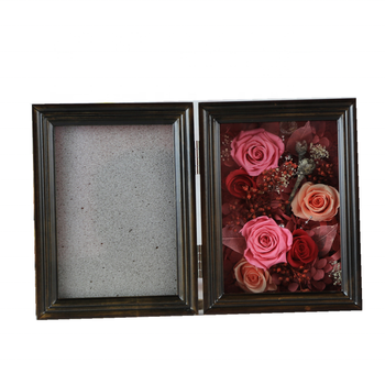 2019 new arrivals preserved flower wooden box photo frame by new designs for mothers day souvenir