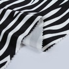 Wholesale home textile knitted zebra striped design plush black velvet fabric for curtain
