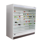 Vertical commercial front open fruit and vegetable display fridge cabinet with remote compressor