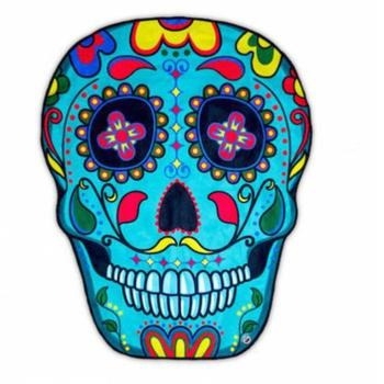 150*150cm Superfine Fiber Irregular Shape Skull Beach Towel,Digital Printing Beach Towel