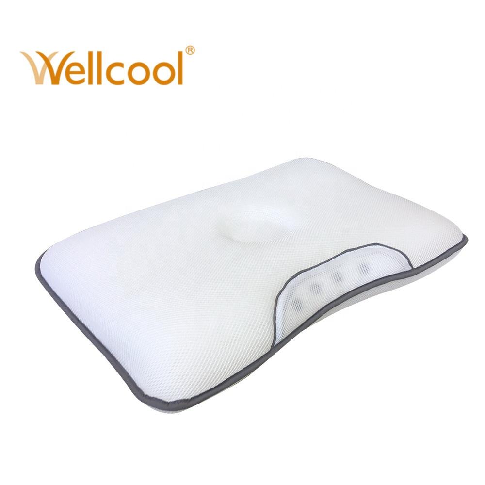卸売格安おやすみ大人 100% ポリエステル 3d メッシュ生地磁気カスタムネック睡眠枕