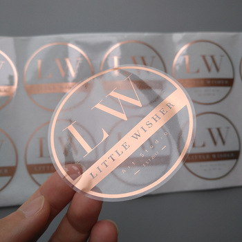 Custom Waterproof sticker Clear Plastic Printing Label Stickers