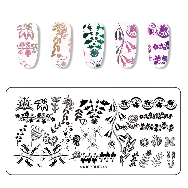 Wholesale 12cm nail plate 2019 New Coming nail art stamping plate in stock