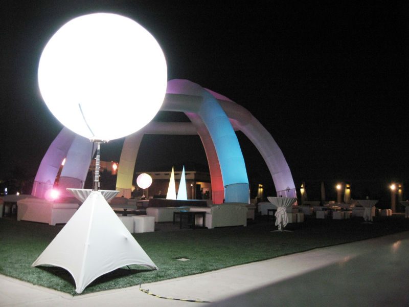 Inflatable led light ball with stand outdoor stand lights for Outdoor christmas balls that light up