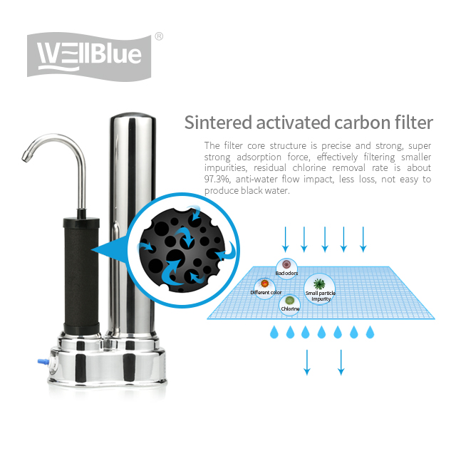 Small countertop water purifier dome environmental ceramic filter for family health