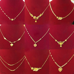 2019 gold plated imitation jewellery, xuping 24k gold jewelry hot sale new design dubai women's fashion chain necklaces