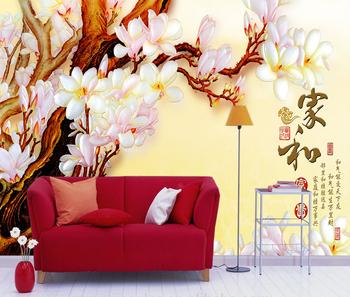 Peach White Flower Relief Wall Art Wallpaper Murals 3d Chinese Wallpaper Murals For Modern Bed Room Buy Chinese Painting Wall Mural Relief Wall Art