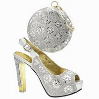 2019 New style for Fashion Ladies shoes and bag to match in shows Events shoes matching bag for party