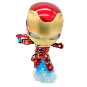 Resin Marvel statue cute mini Flying iron man action figure