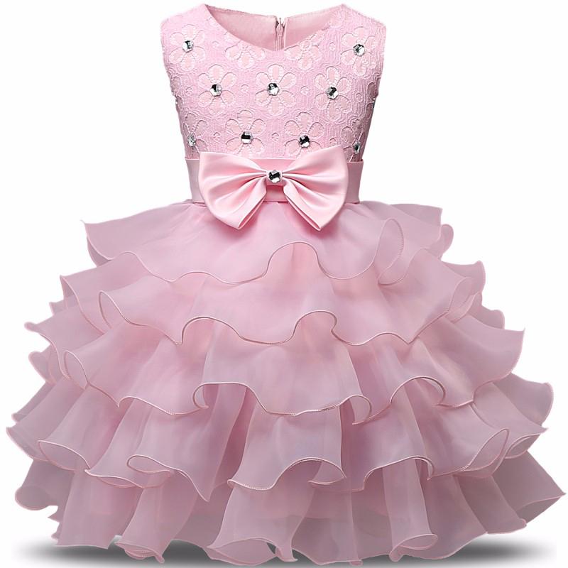 5b5a0776509 Enfants Robes Pour Les Filles D été Robe de Soirée Enfants Costume Arc  Princesse Anniversaire