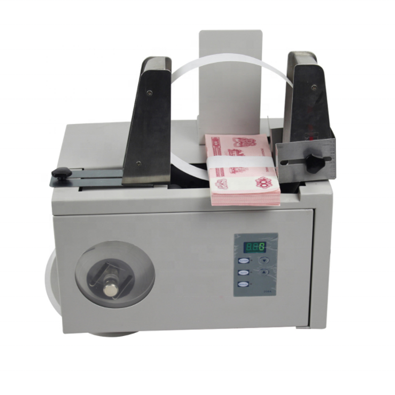 Small Currency banknote banding machine/Automatic ( Paper/ Money) Currency Banknote Strapping Bundling Machine