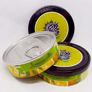 Empty Pressitin Tuna Tin Cans 100ml 3 5g with black Lids