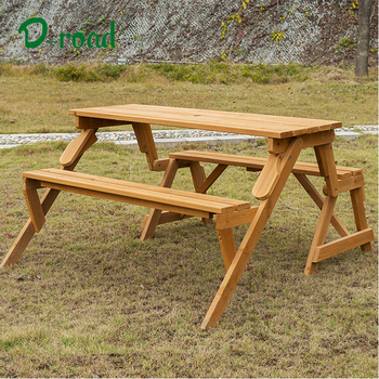 Magnificent Portable Bench Table Foldable Wooden 2 In 1 Picnic Set Table Chairs View Picnic Table Wooden D Road Or Customers Product Details From Fujian Onthecornerstone Fun Painted Chair Ideas Images Onthecornerstoneorg