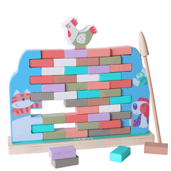 Toys For Kids New 2019 Amazon Originality Design Cartoon Baby Toy Parent-Child Game The Hen Dismantles Wall Educational Wood Toy