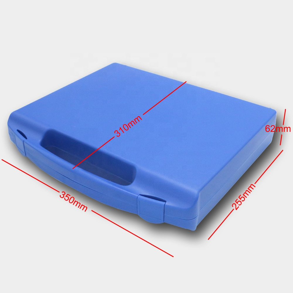 Hard transport handle briefcase plastic tool case for precision instrument