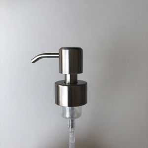 China glass bottle Brushed Stainless Steel Hand Soap Foam Pump metal pump