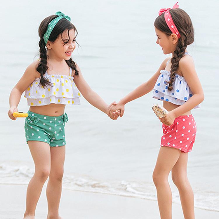 e19a917e96ab6 Kostenloser Versand Zwei-stück Baby Mädchen Bikini Kinder Bademode Mädchen  Badeanzüge Schwimmen Kleidung Kid Moana