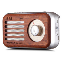 High quality retro style rechargeable portable wood bluetooth speaker with am fm radio