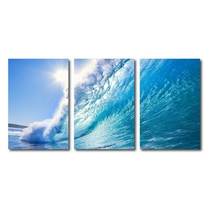 Contemporary Wall Art Ocean Wave Print Painting Canvas for living room decor hotel