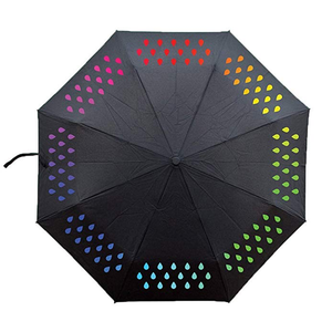 Latest design automatic folding travel 2 3 4 5 fold kids color changing decorative umbrella for rain
