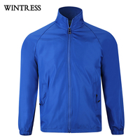 Wintress 2019 New design Reflective pullover windbreaker two tone Custom wholesale cheap men windbreaker jacket