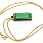 4 hole mini harmonica pendant necklace