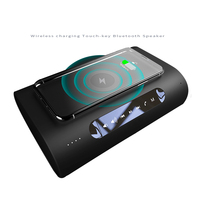 Factory Private Mold Bluetooth 4.2 Touch keys Speaker HiFi Bass stereo portable BT Speakers With Wireless Charging for Iphone