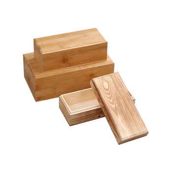 Free Sample Professional Manufacture Cheap Bamboo Pine (carbonized) Heaven And Earth Cover Rectangular Wooden Box With Lid