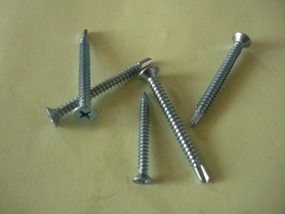 White Zinc Plated Din 7504p Csk Self Drilling Screws,Metal Screws ...
