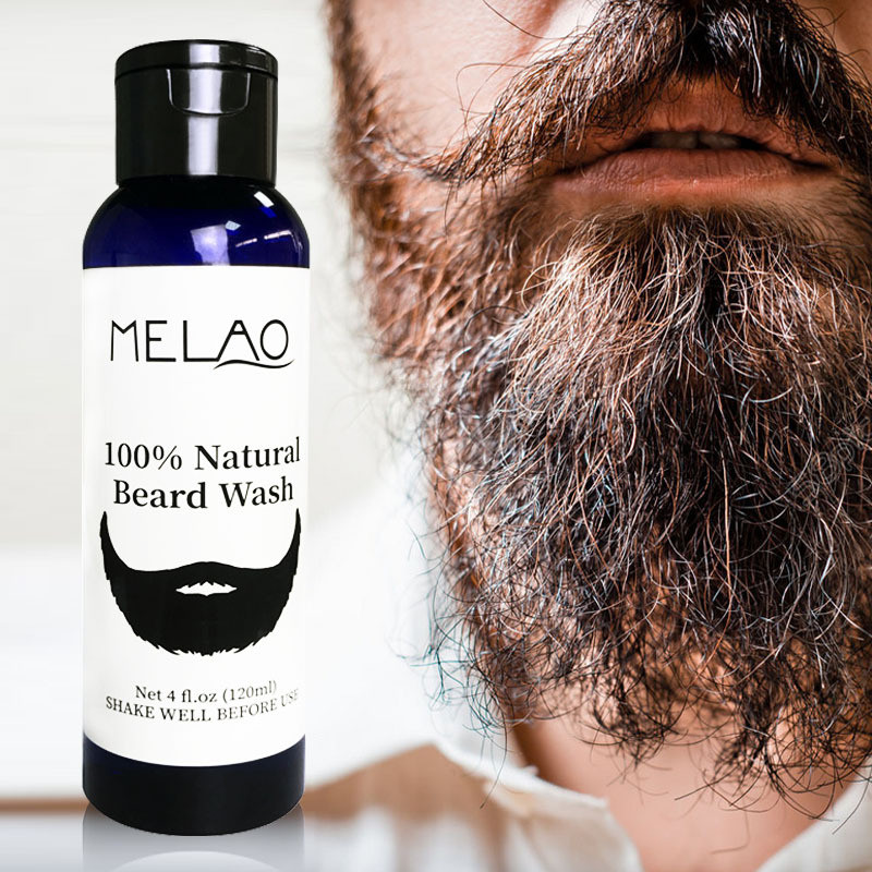 Private Label 100% Naturale Mens di pulizia di Cura Barba Lavaggio Shampoo 120 ml
