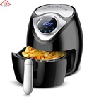 2.6L Non-Stick Multifunction Commercial Digital Gas Air Fryer Heated Rapid Air Kitchen Deep Fryer Without Oil