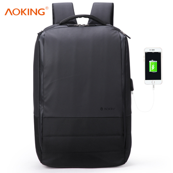 aoking waxy coating waterproof laptop computer backpack bag hidden compartment multifunction laptop backpack usb port 17