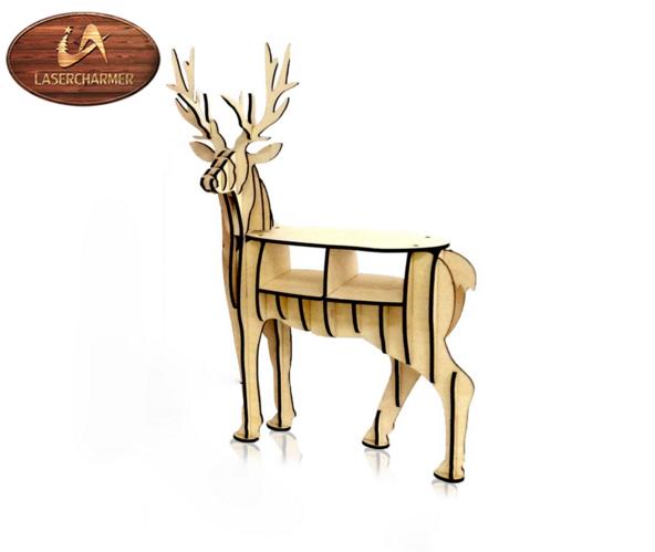 рождество олень украшения дома деревянные животных книжная полка олень голова животного подарок резьба по дереву Id