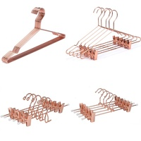 MH022 high quality wholesale heavy duty rose gold metal wire clothes hangers