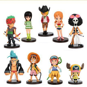 Wholesale One Piece action figure for car set of 9 toys