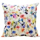 Floral Print Pillow Vintage Cotton Stuffing Cushion For Couch Bed Sofa 16x16 Inch 50x50 cm