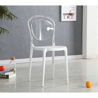 Simply designed durable stackable dining chair