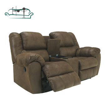 New Living Room Home Furniture Synthetic Leather 2 Piece Sectional Reclining Sofa Set