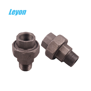 malleable iron pipe fitting fire fighting pipe fitting black iron union 330  340 342 names cast iron pipe fitting