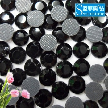 Y0901 Black Glass pearl crystal flatback, pearl crystal round flatback, pearl crystal for garment SS8 SS10 SS12 SS16 SS20 SS30