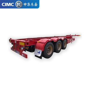 3 axle 40ft skeleton container truck semi trailer for sale