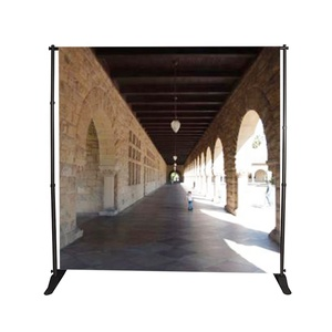 Portable custom heavy duty printed exhibition trade show pop up tension fabric photo booth wedding backdrop banner frame stand