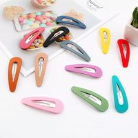Wholesale Glitter Cute Goody Snap Silicone Kid Girl Metal Hair Clip