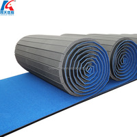 rolled up black wushu carpet bonded foam gymnastics spring floor landing mats rhythmic gymnastics equipment