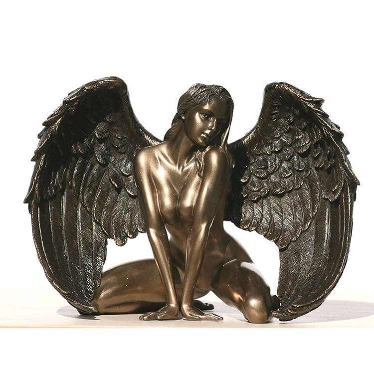 resin electroplating beautiful lying indoor nude angle art woman statue