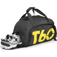 High quality factory sports gym bag duffle travel bag for men with shoes compartment