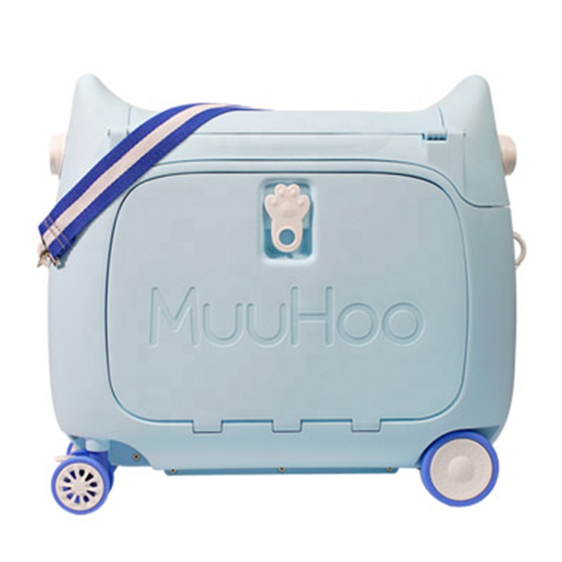 New Design Wholesale Cartoon Child Luggage Rideable Multi-function Kids Suitcase For Travel