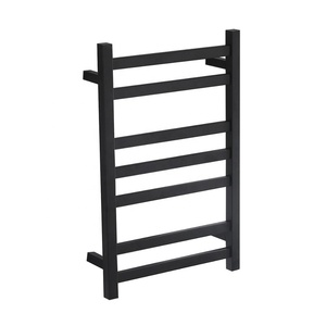 sterilization function alloy hot wire black 304 stainless steel towel rack stainless drying rack for home bathroom